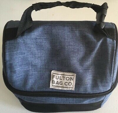 28aa319022 Fulton Bag Company Insulated 2 Compartment Bucket Lunch Bag Blue Denim