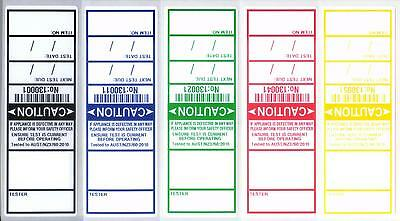 """250 """"plain"""" Electrical / Appliance Test Tags / Labels. With """"write In"""" Sections"""