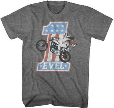 Evel Knievel One Evel Wheelie Licensed USA American Flag Men's T-Shirt