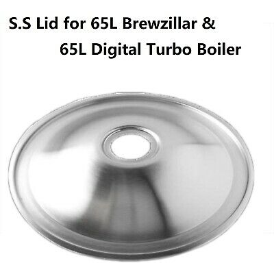 Stainless Steel Lid For 65L BrewZilla or 65 L Turbo Boiler with 47mm Hole