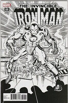 Invincible Iron Man (2017 4th Series) #600 Remastered Variant VF- 1:1000