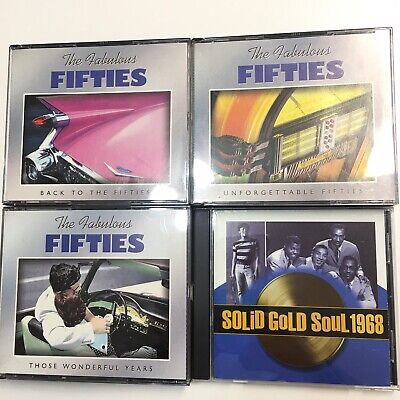 Time Life Solid Gold Soul 1968 Motown The Fabulous Fifties Lot 10 CD Set