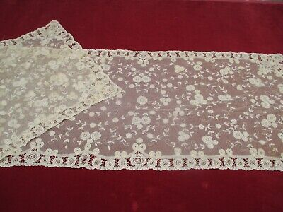 Antique Victorian Handmade lace Runner
