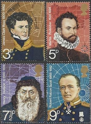 Great Britain 1972 POLAR EXPLORERS (4) Unhinged Mint SG 897-90