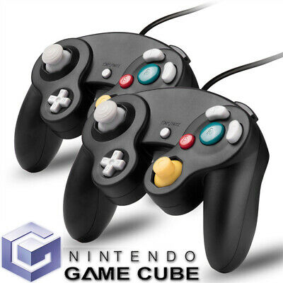 Controller For Classic GameCube GC & Wii Console Classic Joypad Black Wired  2 x