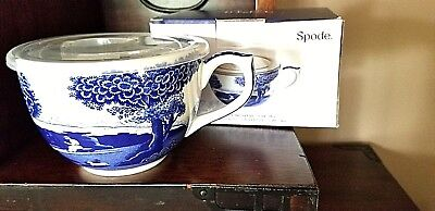 Spode Portmeirion Blue Italian Jumbo Cup With Spill Proof Lid Nib