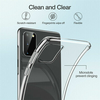 For Samsung Galaxy S10 Plus S10e Clear Soft TPU Silicone Slim Back Case Cover