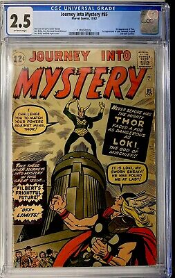 Journey Into Mystery #85 CGC 2.5 OW pages Major KEY 1st Loki 1st Asgard (MARVEL)