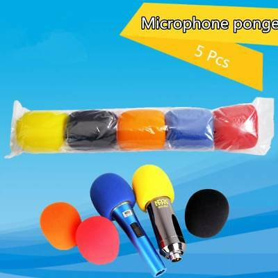 5pcs Colorful Sponge Foam Microphone Windscreen Pop Filter Mic Cover Wind Shield