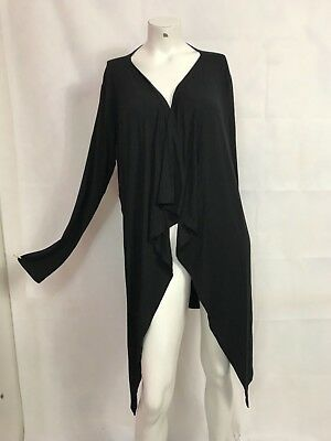 Isabella Oliver Pea In The Pod Collection Black Draped Sweater Cardigan Sz L