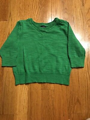 EUC Baby GAP Green Crewneck Sweater, 6-12M  Boy/Girl. Holidays St.Patricks Day