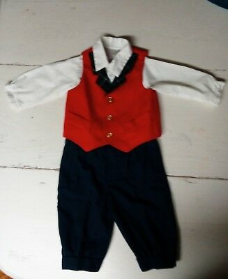 Vintage Baby Boy Toddler Suit vintage Easter suit size 3, button up shirt is 2t