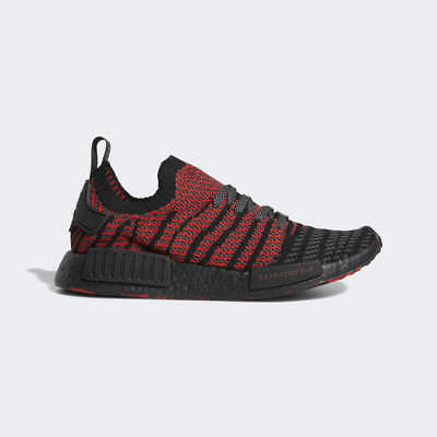 4be76e56882f0 adidas Mens NMD R1 STLT Size 10 Primeknit Collegiate Red Black Boost D96817