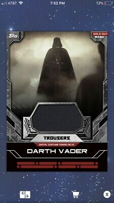 Star Wars Card Trader - Costume Relics - Darth Vader - Trousers