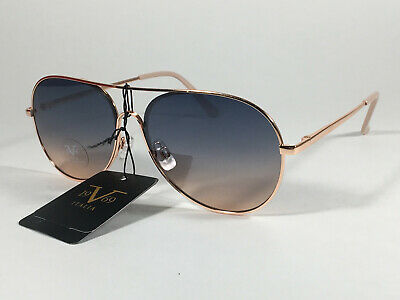 9f6cab065 Versace 19V69 Italia Martina Aviator Sunglasses Rose Gold Metal Blue  Gradient