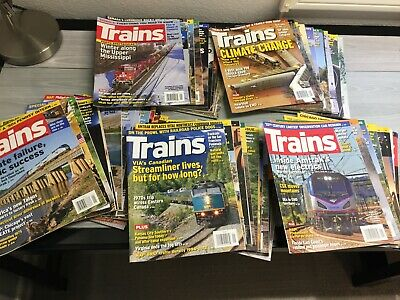 5 Years of TRAINS Magazine Set with Binders 2013 2014 2015 2016 2017