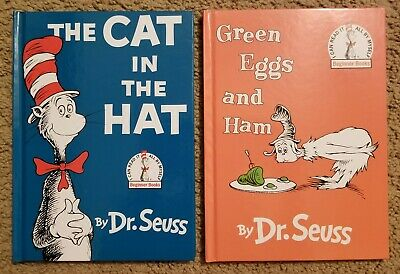 NEW Dr Seuss The Cat in the Hat AND Green Eggs and Ham Hardcover