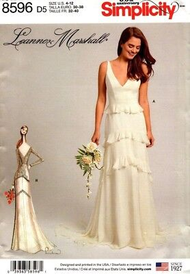 Simplicity Sewing Pattern 8596 Womens Dress Gown Leanne Marshall Size 4-12