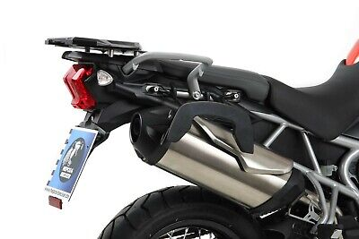 Triumph Tiger 800 / XC bis Bj.2014 C-Bow Side Carrier Black BY HEPCO AND BECKER
