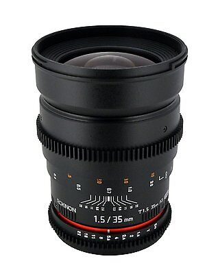 New Rokinon 35mm T1.5 Cine Wide Angle Lens for Canon EF Mount CV35-C