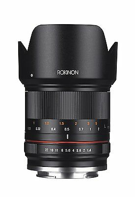 Rokinon 21mm F1.4 High Speed Wide Angle Black Lens for Micro 4/3 Mount RK21M-MFT