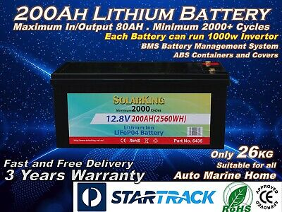 12V 200AH Lithium Ion LiFePo4 Battery Deep Cycle Rechargeable Battery (Pre-Order
