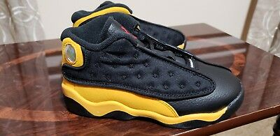 329316b085dd Nike Air Jordan XIII 13 Retro Class of 2002 Melo Black Yellow 414581-035 SZ