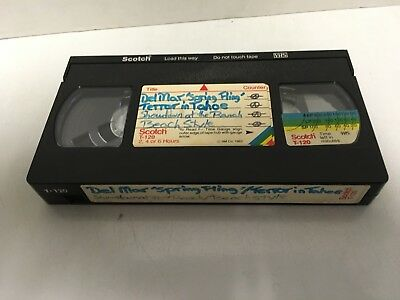 Used VHS Tape Sold as Blank with Vintage 1980s Competition Skateboarding Videos