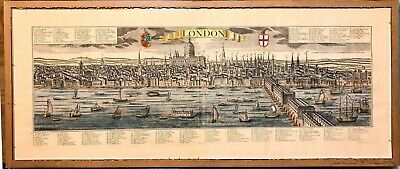 Antique Map London - Probst - dated 1730 Large and rare panorama view
