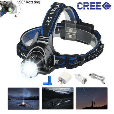 50000LM LED Headlamp Headlight Flashlight Head Torch Rechargeable CREE XML T6 AU
