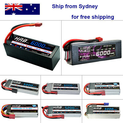 HRB 2S-6S 1300-6000mAh RC Lipo Battery for Drone Airplane Helicopter Car Truck