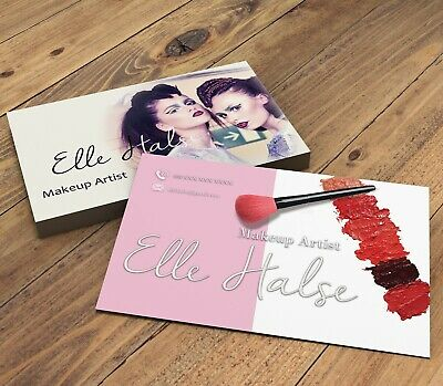 BUSINESS CARDS FOR Makeup Artists | Beauty Theme with your