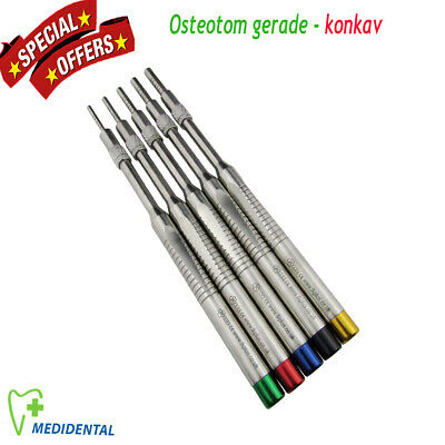 5er set Sinus Lift Osteotome Implantologie Osteotom gerade - konkav for surgery