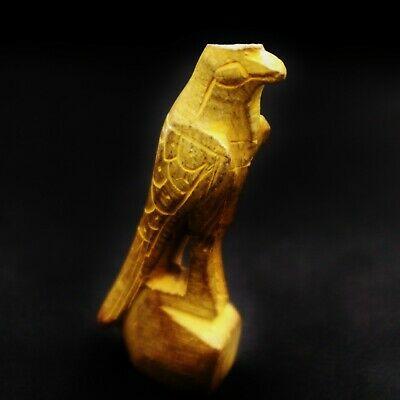 RARE Ancient Egyptian Antique Faience Amulet Figurines of Falcon GOD Horus