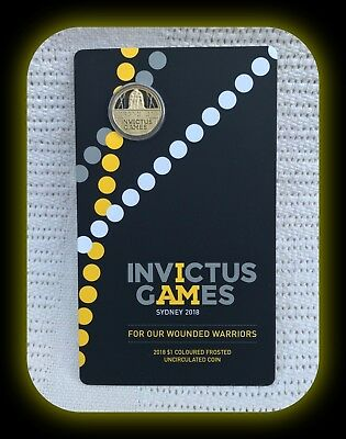 Invictus Games Sydney 2018 2018 $1 Coloured Frosted Uncirculated Coin
