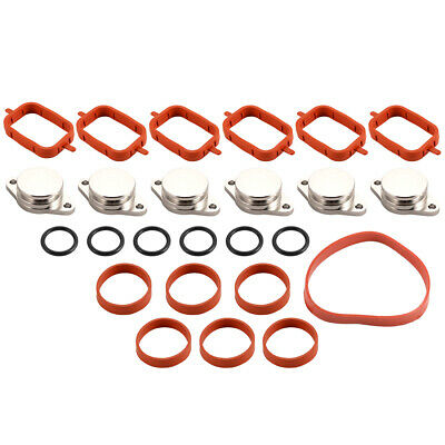 22mm Diesel Swirl Flap Blanks Intake Manifold Gaskets Replacement for BMW MA1648