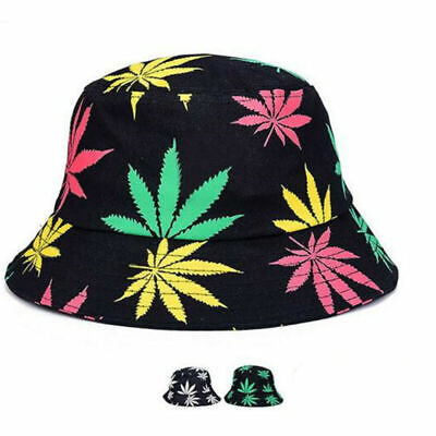 Collapsible Cap Couple Beach Hat Fisherman's Hat Maple leaves Travel Hats