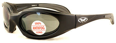 Tinted Motorcycle Foam Padded Glasses/ShatterproofBiker Sunglasses Inc Pouch P&P