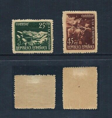 SPAIN _ 1938 '43rd DIVISION' SET of 2 _ mh ____(571)