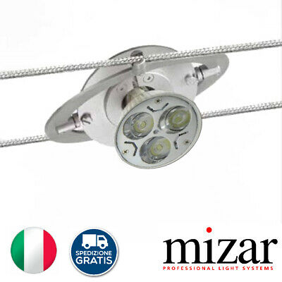 Faro Faretto Orientabile Spot Mizar Rotospot 6330-28 Kable 12V Led Gu5.3 Mr16