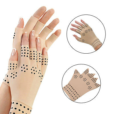 Magnetic Anti Arthritis Compression Therapy Gloves Hand Relief Pain Support