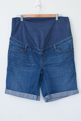 Women's Maternity Denim Shorts Size 16