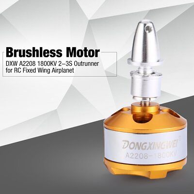 DXW A2208 1800KV 2-3S Outrunner Brushless Motor for RC Fixed Wing Airplane EC