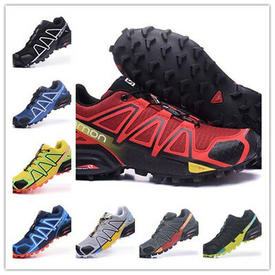 2019 New Men's Solomon 4 Athletic Running Sports Outdoor Hiking Trainers Shoes