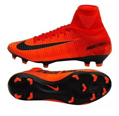 af29f70c4333 NWT Nike Mercurial Superfly V DF FG Fire Pack Soccer Cleats - 831940-616 -