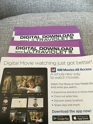 FANTASTIC BEASTS AND WHERE TO FIND THEM -  ultraviolet uv code new (NO DVD)
