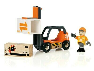 Brio Wooden Railway Trains Fork Lift Truck 4 Pieces Age 3+ 33573 Boxed New