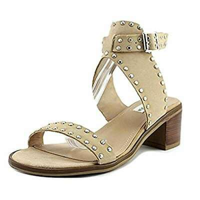 5b18787eaaec39 STEVE MADDEN GILA Women 5.5 Nude Tan Leather Studded Sold Out Sandal ...