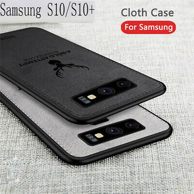 For Samsung Galaxy S10 S10+ S10E Hybrid Soft TPU Leather Case Matte Back Cover