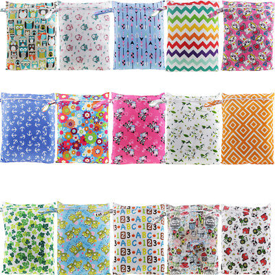 AU Waterproof Kids Wet Bag 30x40cm for Nappies, Clothes, Swimmers, baby clothes